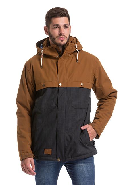 Meatfly Pánska zimná bunda Dandy 2 Jack et Brown / Antracit heather M
