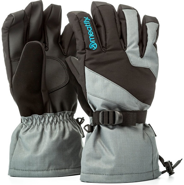 Meatfly Pánske prstové rukavice Agent Gloves A - Grey-Black-Blue M