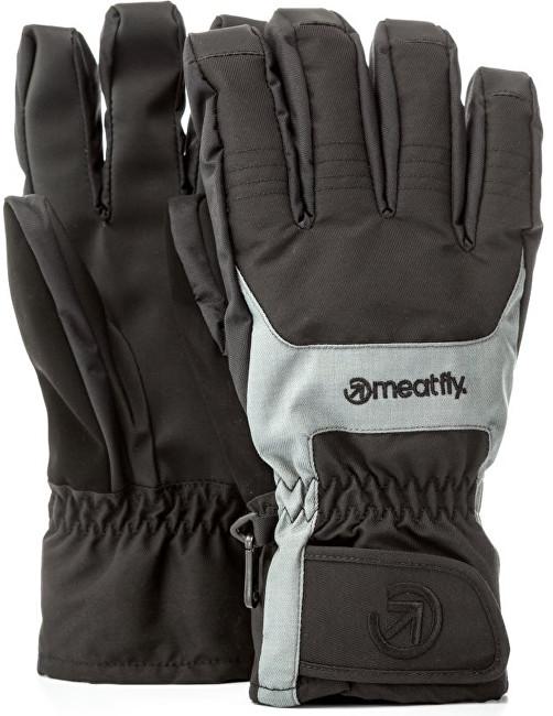 Meatfly Pánske prstové rukavice Cyclone Gloves B - Black / Grey S
