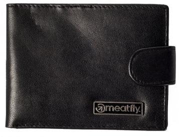 Meatfly Pánska kožená peňaženka Riker A-Black