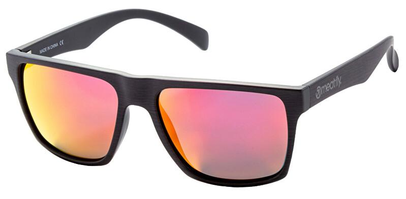 Meatfly Polarizată ochelari de soare Trigger 2 C-Wood,Red