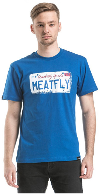 Meatfly Tričko Carplate T-shirt A - Blue S