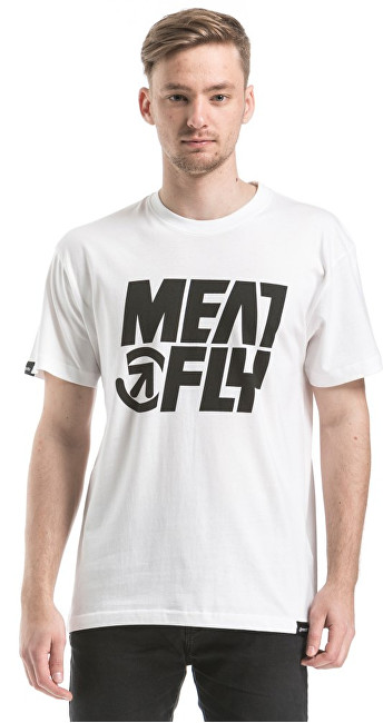 Meatfly Tričko Shaper T-shirt F - White S