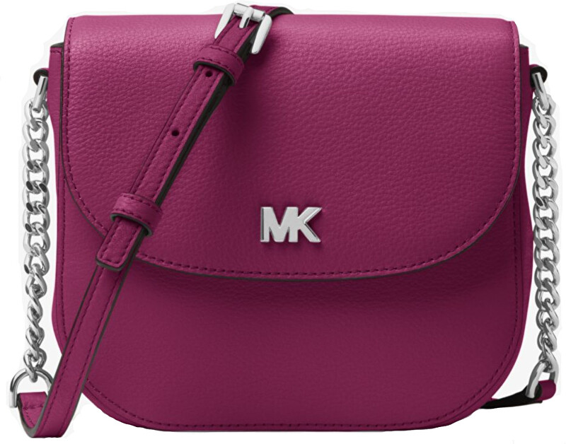 Michael Kors Elegantní crossbody kabelka Mott Pebbled Leather Dome Crossbody Bag Garnet