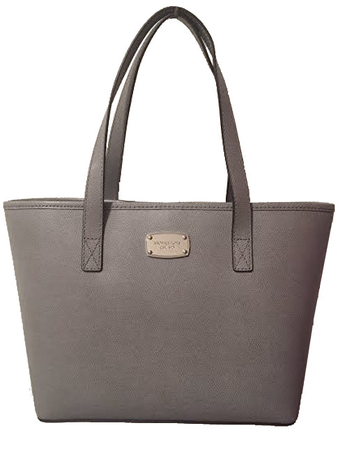 Michael Kors Elegantná kožená business kabelka Jet Set Saffiano Leather Tote Grey