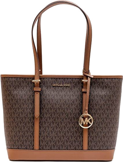 Michael Kors Dámská kabelka Jet Set Travel 193599450957 Brown Signature