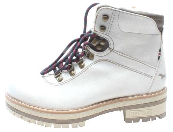 Mustang Cizme de gleznă pentru femei 1344602-243 fildeș 39