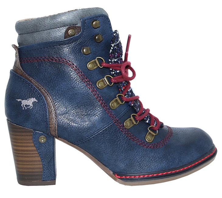 Mustang Dámske členkové topánky 1287519-820 navy 36