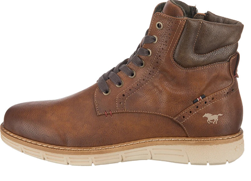 Mustang Bărbați cizme glezna 4139501-301 kastanie 44