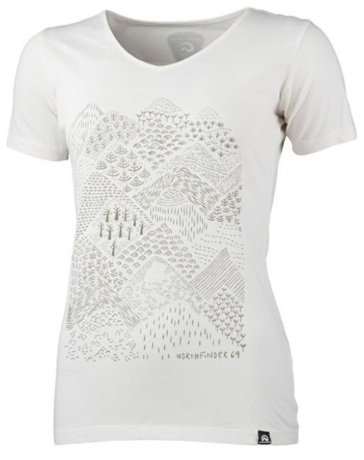ecc4bb375a Northfinder Dámske tričko Pamfilia White TR-4390OR S
