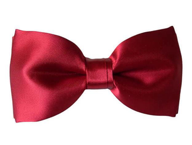 N.Ties Fluture roșu închis clasic MKHS009