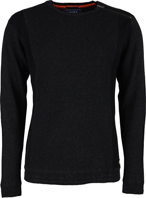 Noize Pánsky sveter s dlhým rukávom Charcoal 4523235-00 L