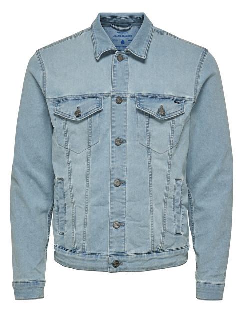 ONLY&SONS Men´s Trucker pentru bărbați L Blue PK 3149 Blue Denim Jacket XXL