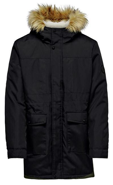 ONLY&SONS Pánska bunda ONSBASIL PARKA JACKET OTW Noosa Black L