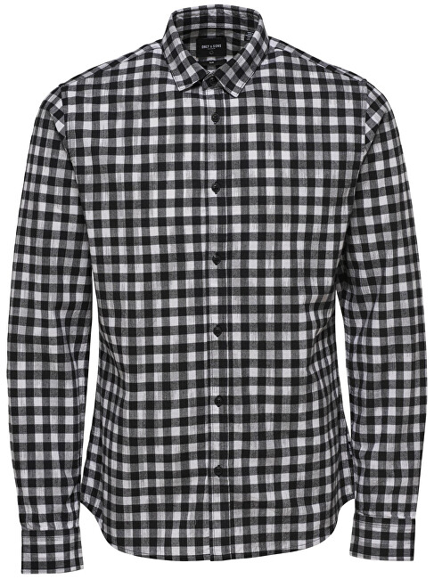 ONLY&SONS CămașăGordey LS Checkandprint Shirt Black pentru bărbați S