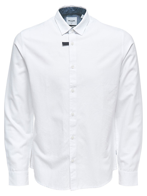 ONLY&SONS Pánska košeľa Travis Ls Thin Oxford Shirt Re White S