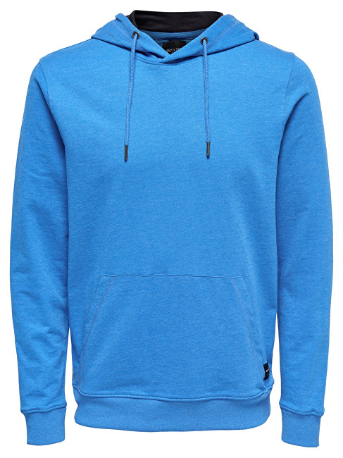 ONLYSONS Pánská mikina Basic Sweat Hoodie Unbrushed Noos Imperial Blue M
