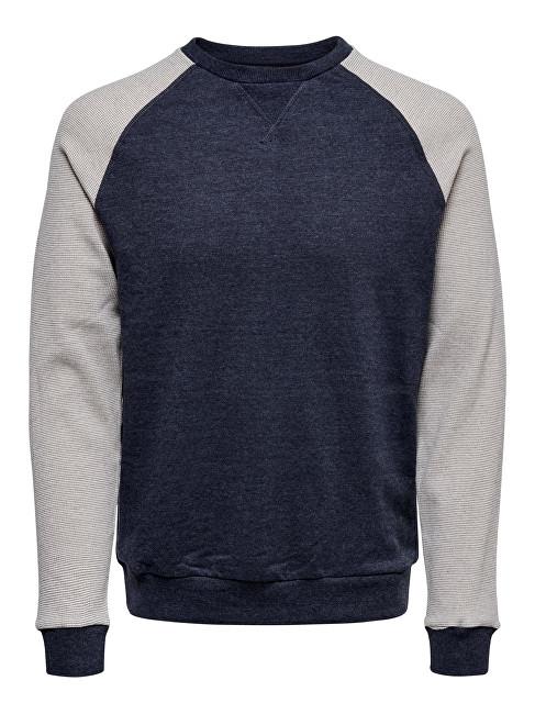 ONLY&SONS Bărbați pulover Raglan Structure Sweat Medium Grey XL