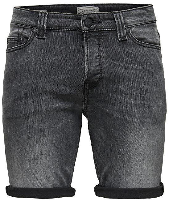 ONLY&SONS Pánské kraťasy Ply Shorts Dark Grey Cr 8604 Grey Denim 31