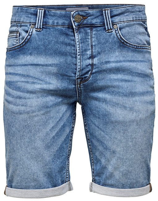 ONLY&SONS Pánske kraťasy Ply Sw Blue Shorts Pk 2019 Noos Blue Denim 29
