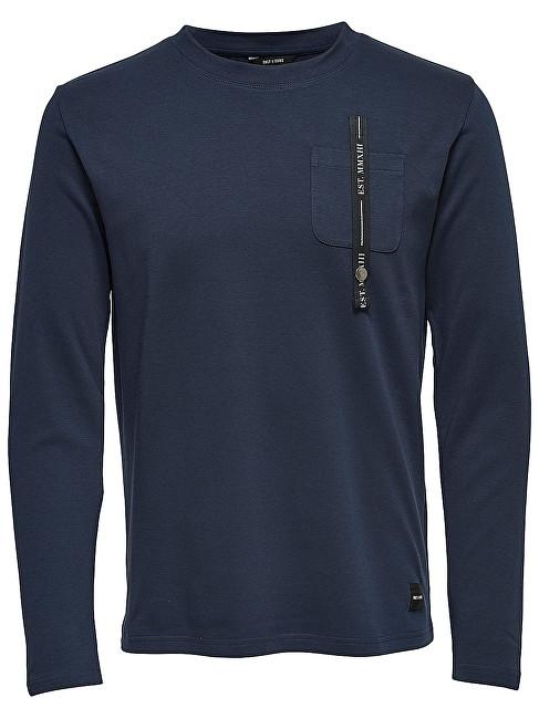 ONLY&SONS Pánský svetr Saul Pocket Ls Dark Sapphire S