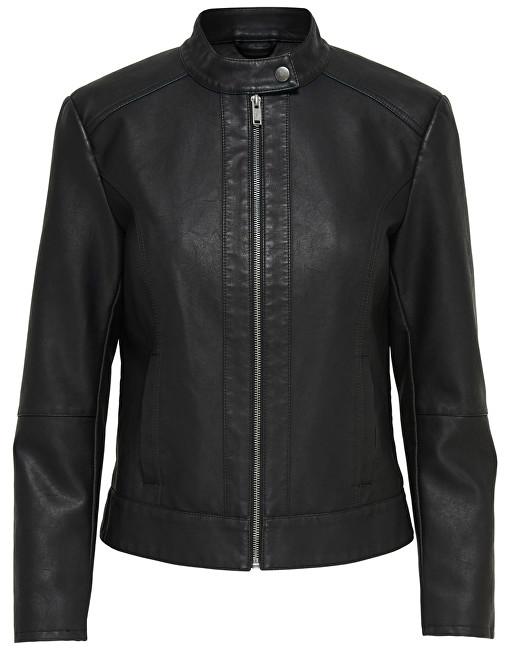 ONLY Jacheta pentru femei de Jade Dallas Faux Leather Jack și Otw Noos Black 34