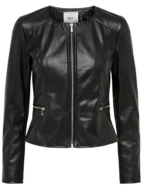 ONLY Jacheta pentru femei Mona Faux Leather Jacket Otw Black 36