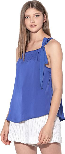 ONLY Dámska blúzka Daria Tie Singlet Wvn Royal Blue 38