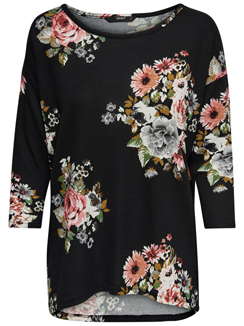 ONLY Femeile bluza Elcos 4/5 Aop Top Jrs Noos Black Flower S