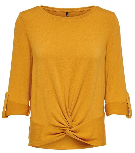 ONLY Bluză de femei ONLTINNA 3/4 TOP JRS Gold Yellow XS