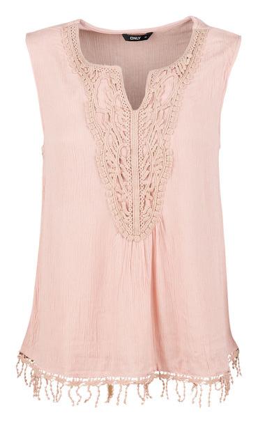 ONLY Bluză pentru femei Sevanna Crochet S/L TOP WVN 15160135-Misty Rose 34