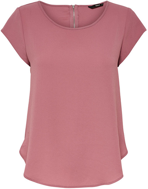 ONLY Bluza pentru femei Vic S/S Solid Noos Wvn Mesa Rose 36
