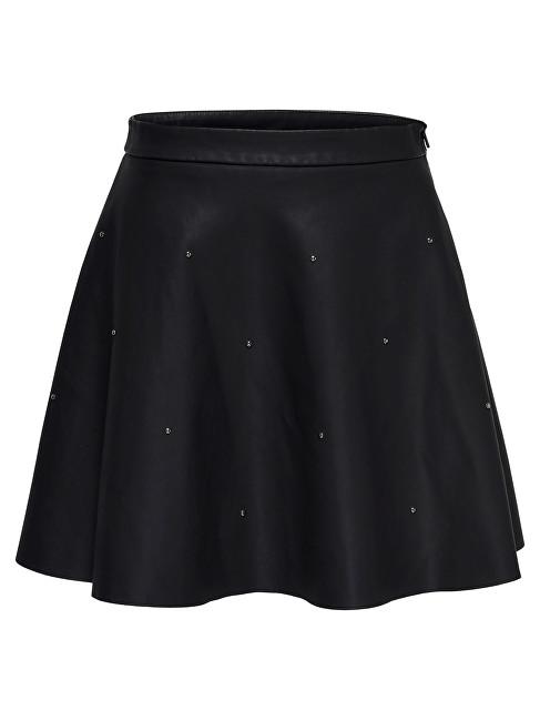 ONLY Fustă pentru femei Fia Stud Short Faux Leather Skirt Otw Black 34