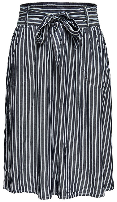 ONLY Fusta Manhattan Stripe Dnm Skirt Qyt White 38