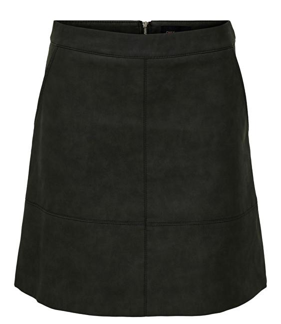 ONLY Fusta Nima Faux Leather Skirt Otw Black 38