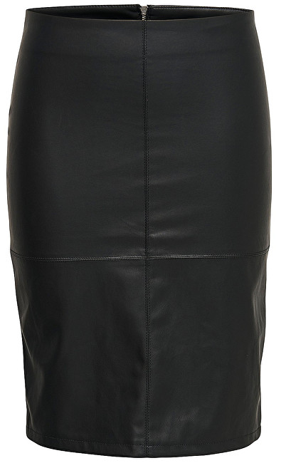 ONLY Fustă pentru femei Ticket Faux Leather Skirt Otw Noos Black 38