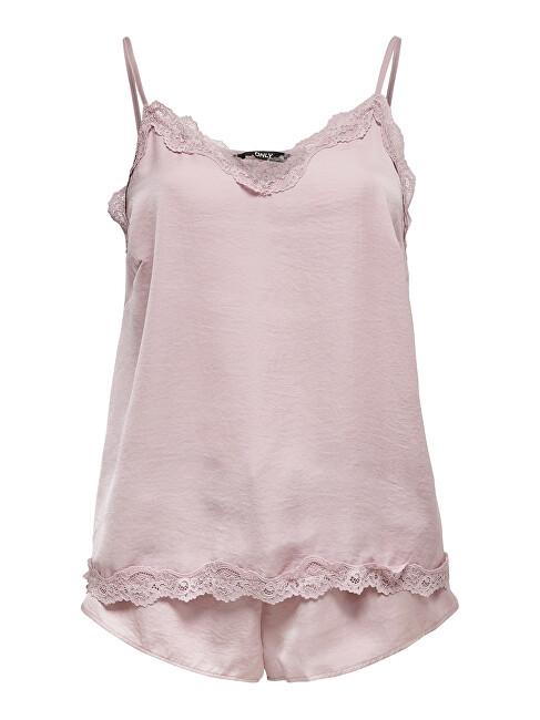 ONLY Dámske pyžamo ONLVALENTINE NIGHT SET Keepsake Lilac 44