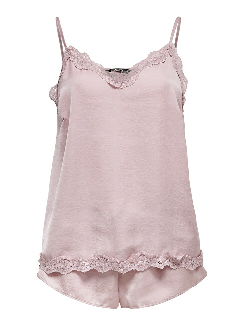ONLY Pijamale pentru femei ONLVALENTINE NIGHT SET Keepsake Lilac 44