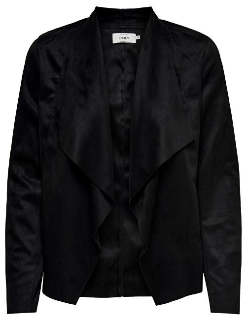 ONLY Jacheta pentru femei Fleur Drapy Faux Suede Jacket Black 34