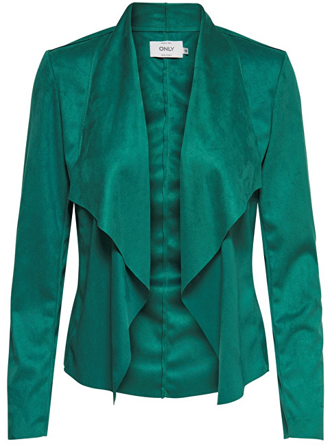 ONLY Dámske sako Fleur Drapy Faux Suede Jacket Cadmium Green 40