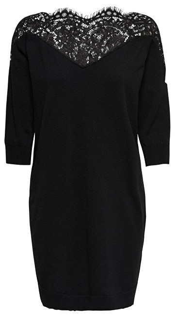 ONLY Femeie rochie Ally 3/4 Spring Dress Knt Black Dtm Lace M