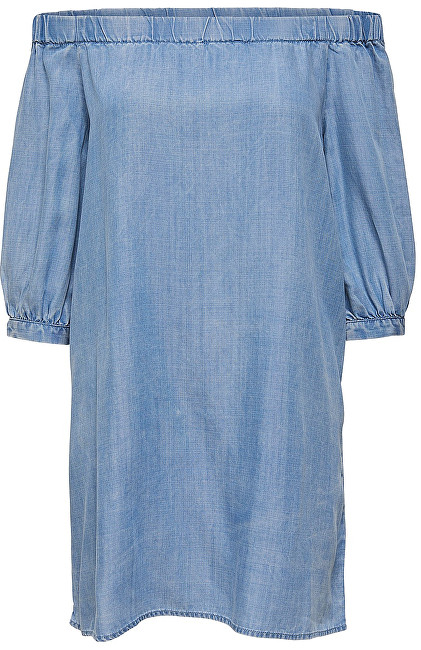 ONLY Rochie Janice Off Shoulder Dnm Dress Qyt Light Blue Denim 36
