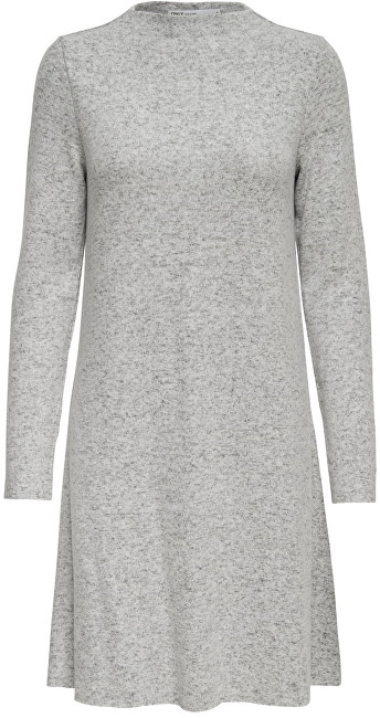 ONLY Rochie de damă ONLKLEO L / S DRESS KNT NOOS Light Grey XL