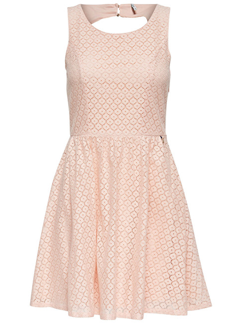 ONLY Dámské šaty Line Fairy Lace Dress Wvn Noos Peachy Keen 40