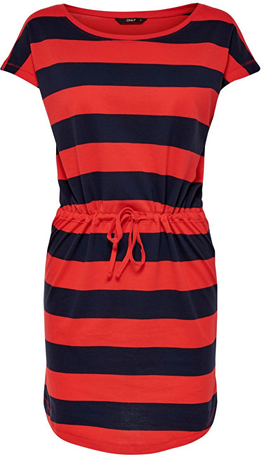 ONLY Rochie May S/S Dress Noos Night Sky Block High Rish Red S