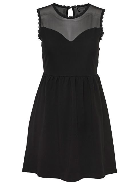 ONLY RochieNiella Mesh Sl Dress Jrs Black S