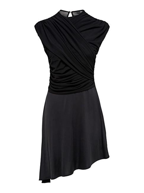 ONLY Femeia rochie True S/L Drappy Dress Jrs Black M