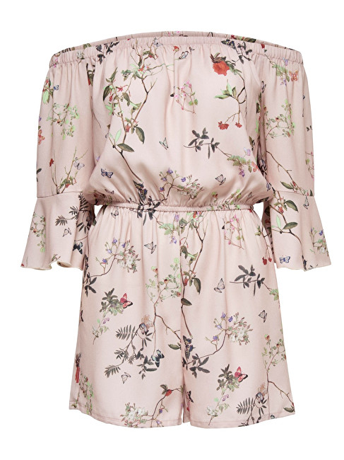 ONLY Dámsky overal Butterfly Off Shoulder Play suit WVN 15163125- Rose Smoke 36
