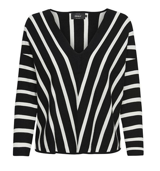 ONLY Pulover pentru femei AYA 7/8 Pullover V-Neck Knt Black XL