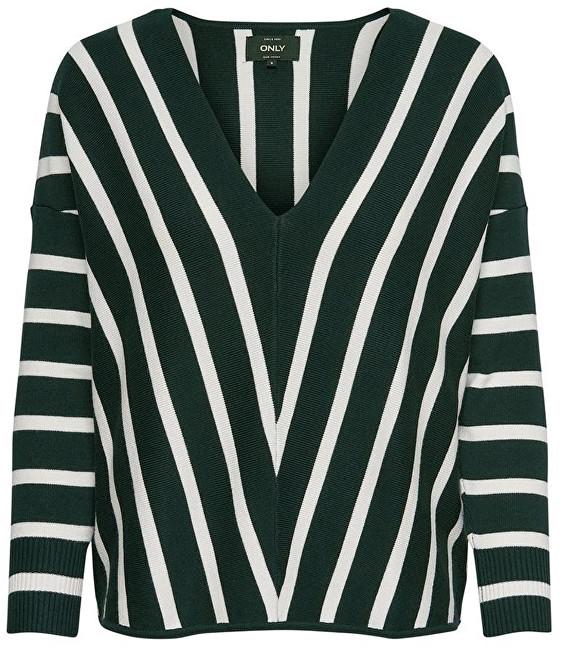 ONLY Pulovere pentru femei AYA 7/8 Pullover V-Neck Knt Green Gables M